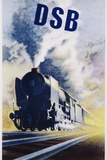 Dsb Danish State Railways Poster Photographic Print by Aage Rasmussen