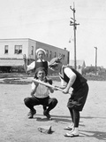 Boys Play Baseball in a Sandlot, Ca. 1923 Photographic Print