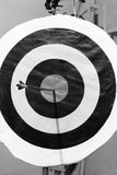 Archery Target with Arrow in the Bull's Eye Photographic Print by Philip Gendreau