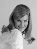 1960s Portrait Attractive Smiling Young Blonde Woman over Shoulder Photographic Print
