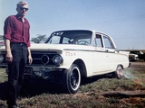 Sixteen Year Old Boy Stands with His 1960 Mercury Comet Automobile, Ca. 1962 Photographic Print