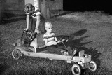 Brothers Play with their Homemade Go Cart, Ca. 1955 Photographic Print