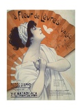 A Fleur De Levres Valse Waltz Sheet Music Cover Giclee Print by Clerice Freres
