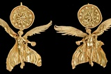 Early Hellenistic Gold Earrings with Nike Photographic Print