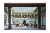 View of the Patio Giclee Print by Jose Agustin Arrieta