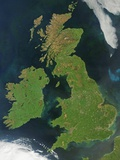 Satellite View of Great Britain and Ireland Photographic Print