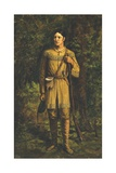 Portrait of Davy Crockett Giclee Print