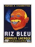 Riz Bleu - Charles Lacroix Cigarette Paper Advertisement Poster Giclee Print