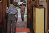 Father Waving Goodbye to Son Photographic Print by William P. Gottlieb
