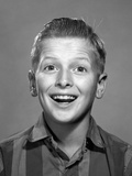 1960s Portrait Smiling Wide-Eyed Happy Surprised Teenage Boy Photographic Print