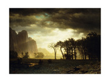 Passing Storm in Yosemite Giclee Print by Albert Bierstadt