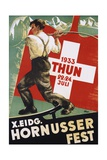 "Poster for 1933 ""Hornusser Fest"" in Thun, Switzerland Giclee Print"