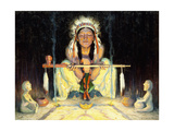 Offering to the Great Spirit Reproduction procédé giclée par Eanger Irving Couse
