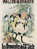 Folies-Bergere: Les Demoiselles Du Vingtieme Siecle Poster Photographic Print by A. Trinquier-Trianon