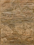 Assyrian Relief of Transport of Lebanese Cedar Photographic Print