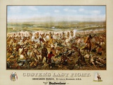 Custer's Last Fight Color Print from Painting Lámina fotográfica