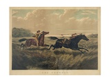 The Pursuit Giclee Print by  Currier & Ives