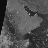 Nighttime Satellite View of the Arabian Peninsula Photographic Print
