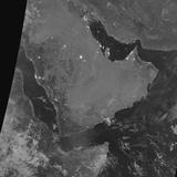 Nighttime Satellite View of the Arabian Peninsula Photographic Print