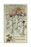 A Very Jolly Christmas Postcard Giclee Print