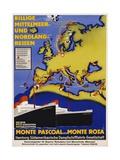 Billige Mittelmeer Und Nordland-Reisen Poster Giclee Print