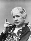1930s Portrait of Elderly Woman with Finger Raised at Viewer Photographic Print