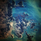 Hong Kong Seen from Space Photographic Print