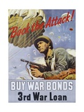 Back the Attack! War Bonds Poster Giclee Print