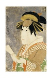 An Okubi-E Portrait of the Actor Sanogawa Ichimatsu as the Gion Courtesan Onayo Giclee Print by  Toshusai Sharaku