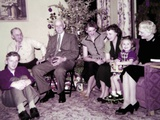 The Family Gathers around the Christmas Tree, Ca. 1956 Photographic Print