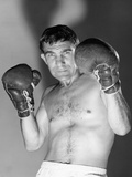1960s Portrait of Boxer Holding Gloved Hands Up to Protect Face Photographic Print