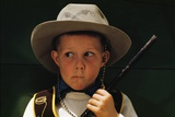 Boy Playing Cowboy with Gun Photographic Print by William P. Gottlieb