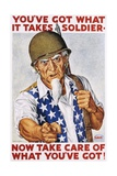 You've Got What it Takes Soldier Poster Giclee Print by Ernest Hamlin Baker