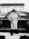 Mature Man Stands by His Car, Ca. 1942 Photographic Print