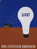 Light: Rural Electrification Administration Poster Photographic Print by Lester Beall
