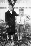 Two Brothers Pose in the Backyard, Ca. 1930 Photographic Print