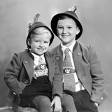 Two Brothers Pose for a Formal Portrait, Ca. 1949 Photographic Print