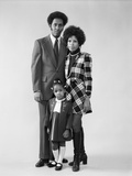 1970s African American Family Father Mother Daughter Standing Together Photographic Print