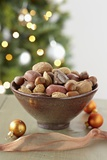 Bowl of Nuts by Holiday Decorations Photographic Print by Lew Robertson
