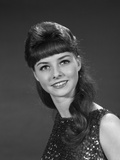 1960s Portrait of Smiling Young Woman in Sequin Dress Photographic Print