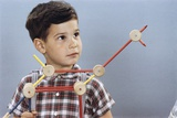 Boy Playing with Tinkertoys Photographic Print by William P. Gottlieb