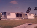 1960s Mobile Home with Tv Aerial in Trailer Park Florida Usa Photographic Print by Ewing Galloway