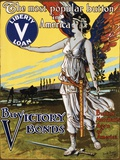 The Most Popular Button in America - Buy Victory Bonds Poster Fotodruck von Arnold Binger
