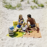 1970s Family Man Father Woman Mother Boy Son Picnic on Beach Ocean City New Jersey USA Photographic Print