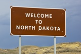 Welcome to North Dakota Sign Photographic Print by Paul Souders