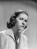 1950s-1960s Woman Portrait Worried Facial Expression Hand to Cheek Tooth Pain Photographic Print