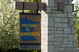 Welcome to Minnesota Sign Photographic Print by Paul Souders
