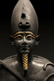 Detail of Statuette of Osiris Sitting Photographic Print