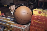 Boy Longing for Basketball Photographic Print by William Gottlieb