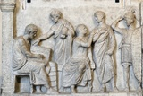 Roman Relief of Sacrifice Scene During a Census Photographic Print